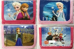 Wholesale 12pcs Frozen Elsa Anna cartoon wallet change pocket Frozen purse styles mixed