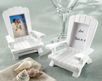 "Wedding Resin Place card holder Photo Frame 2014 ""Beach Memories"" Miniature Adirondack Chair Place Card Photo Frame wedding favors"