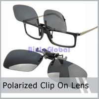 Wholesale 5 X Sunglass Clip On Flip Up Polarized Sunglasses Clip Fashion Sunglass Holder with retail box