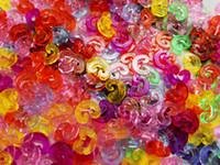 Wholesale Colored Rubber Bands For Bracelets - Colored DIY Plastic Rubber Hook C-Clips S - Clips DIY Bands Bracelet Connector For Rainbow Loom Kids 10000PCS