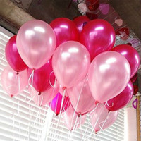 Wholesale HOT SALE Free inch g Latex Helium Inflable Thickening Pearl Wedding Party Birthday Balloons mixed colors