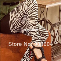 Wholesale Promotion NEW Spring Fashion Hot Design Women s Sexy Thin Zebra Print Fitness Leggings Ladies Skinny Sport Tights Pants
