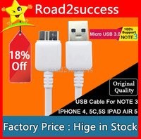 Wholesale High Quality Micro USB Cable for Samsung HTC etc USB Cable For USB NOTE3 NOTE S4 S5 DHL