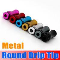 Wholesale Metal Drip Tip Head Metal Round Mouthpiece For EGO Atomizer series DCT Vivi Nova Cartomizers seven eleven