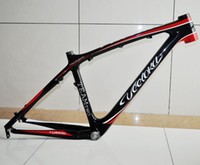Wholesale Latest Style VEETOKA TEAM2 Full Carbon Bike Frames MTB Frame Black and Red Color Carbon Frame er inch Montain Bicycle Frame