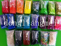Charm Bracelets   50pc Rainbow loom kit rainbow loom DIY rubber wrist bands bracelets with(600 pcs bands+24 pcs S clips+1 pcs Hook+1pcs shell) #S08