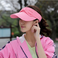 Wholesale Butterfly Festival empty hat female of the influx of summer outdoor sports UV sun hat sun hat Fashion New Women s sun hat empty top hat Cycl