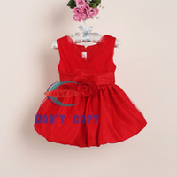 Wholesale 2014 new girls dresses girl party dress with beaut...