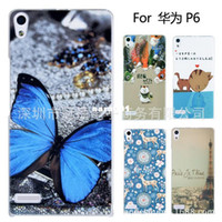 Universal other Yes Case for Huawei Ascend P6 Painting Drawing 2 Cover Free shipping mobile phone bags & cases Brand New Arrive 2014 accessories