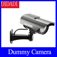 Wholesale Newest Indoor Outdoor Solar Powered Fake Dummy Security Camera with LED Light Waterproof