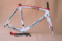 Wholesale Best selling silve white and red color full carbon bicycle frame road bike Pinarello Dogma65 Think2 carbon bike frame fork