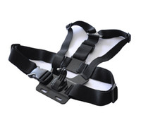 Wholesale Hot Sport Camera Mini DV Harness Adjustable Gopro Chest Belt Body Strap Mount with J Shape Camera Holder Adapter For Gopro Hero