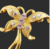 Celtic Women's Gift Gilded Top Grade Flying Butterfly Brooch Badge For Mother's Day Gift Mix Color Butterfly Brooches Pins Evening Dress Fshion Accessories