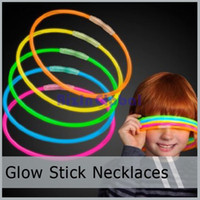 Wholesale Hot sale high quality Glow Stick Light Up Necklaces Glowsticks LumiStick Assorted Colors
