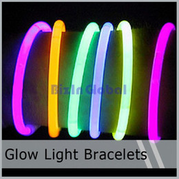 Wholesale Hot sale LED Light Up Flashing Sticks Bracelet Multi Color Lighting Blinking Glow Party