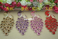 Universal other Rhinestone Case Min.$15 (Mixed Order) Peacock Cell Phone DIY Alloy Decoration With Free Shipping