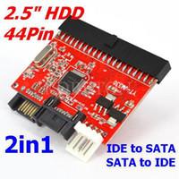 Wholesale 1set in quot pin IDE TO SATA Sata to HDD Hard Disk Driver Adapter Converter inch DVD RW CD ATA Serial Adaptor