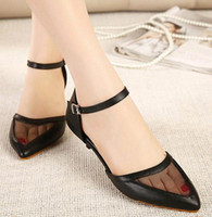Wholesale Women s new Europe and the United States pointed A type of word cingulate gauze short shoes sexy women s shoes wedges xz097