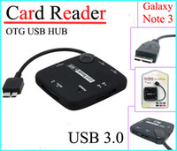 Wholesale OTG USB HUB and Card Reader Micro USB Type for Samsung Galaxy Note N9000 N9002 N9005 high quality