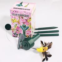 Wholesale Creative Solar Hummingbird Flying Fluttering Birds Resin Home Decoration
