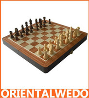 Wholesale Classic Wood Folding Champions Chess Set Game Wooden Chess Game
