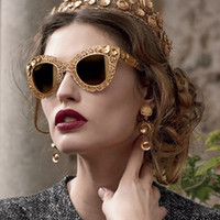 Wholesale 2014 High Quality Brand Mosaic Gorgeous Cat Eye Hollow out Lace Flower Filigree Sunglasses Glasses Eyewear for Women