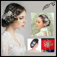 Wholesale 2013 New Bridal Hair Accessories Comb Greek bride tire beads around the forehead crystal diamond pearl bead flower Beautiful hot selling