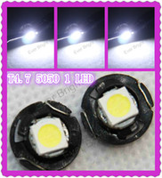 SMD SMT LED Bulbs auto dashboard lights - 10pcs T4 LED Lamp Car Gauge SMD Dashboard Auto Car Side Light Bulb