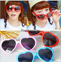 Wholesale 2014 Hot Heart shaped sunglasses candy colors men and women general sun glasses tide glasses