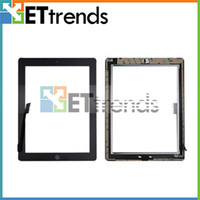 Wholesale Touch Screen Glass Digitizer Assembly for iPad with Home Button M Adhesive Glue Sticker Replacement Repair Parts AA0071