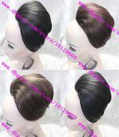 high-temperature Synthetic hair Black  Free shipping Stylish Bridal Hair bun Fashion Women and Girls Hair Magic Buns Clip in Hair Extensions Full hair Chignons Hair Accessory Hot