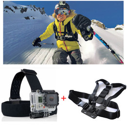 3-way Adjustable Elastic Body Chest Strap Shoulder Belt Mount + Head Strap Belt with Tripod Camera Mount Adapter