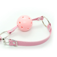 Ball gag Unisex  Yeas BDSM basic design pink ball gag bondage gag gear fetish gear sex toy adult novelty free shipping