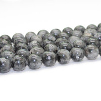 Wholesale Size mm mm mm mm mm New arrivals multi size Grey color Natural stone labradorite gemStone round bead for jewelry making GB021