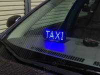 Wholesale 2pcs LED Taxi Top Lamp V Taxi Cab Top Sign Light high quality white red Blue amber color