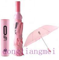 Wholesale 120pc Fashion red wine umbrella bottle lovers sun shading anti uv umbrella gift J47