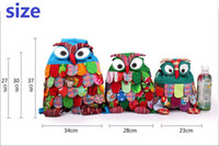 Wholesale Owl feathers Bag Backpack children national package colors Three style