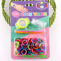 Wholesale RAINBOW BANDS LOOM WATCH KIT New Rainbow Bands Loom Silicone Silicon Watch Kits DIY Bracelets With Retail Packages