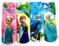 Wholesale Retail New Arrival Baby cartoon frozen socks long socks style lovely children socks baby wear