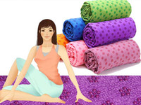 Wholesale EMS Health Care Skidless Yoga Towel Yoga Mat Non slip Yoga Mats for Fitness Yoga Blanket K07611