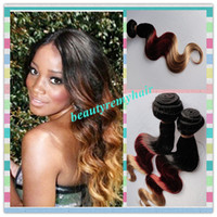 Brazilian Hair Body Wave  Hot Sale!!! Ombre Color #1b#33#27 Brazilian Body Wave Hair Weft 100% Remy Human Hair Extensions 12''--28'' 3pcs lot Free Shipping by DHL