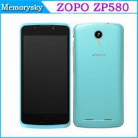 Wholesale ZOPO ZP580 Android Dual Core MTK6572 inch M GB G GPS Dual SIM Dual Standby WI FI Bluetooth Smart mobile phone Hot Sale