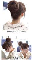 Black big pretty women - Stylish Straight Hair bun Pretty Women and Girls Hair Magic Hair Buns Clip in Hair Extensions Big size hair Chignons Hot