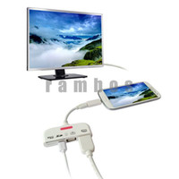 Wholesale 5 in USB OTG SD TF Card Reader MHL to HDMI Adapter Connection Kit for Samsung Galaxy S3 S4