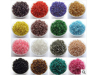 Cheap 100g 2MM Silver-lined Glass Seed Beads,Cezch Glass Seed Beads Jewelry Finding Spacer Beads Solid Color DIY Bead for necklace bracelet making