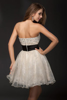 Reference Images Strapless Tulle 2014 Hot Sale Sexy Cheap Fashion Beading Sleeveless Tulle Sweetheart A-line Applique Strapless Organza Homecoming Cocktail Dresses