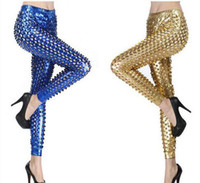 Leggings Skinny,Slim Women NEW Fashion Women punk Rock Fish scales Hole leggings Women sexy legging