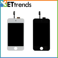 Wholesale LCD Display amp Digitizer Touch Screen Glass Assembly for iPod Touch Black White DHL Best Quality