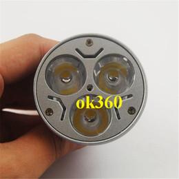Wholesale GU10 W LED spot light E14 E27 MR16 B22 x3W CREE led bulb White Warm white LED Bulb Light V led light CE RoHS Energy saving Bulb
