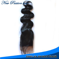 Brazilian Hair Natural Color Body Wave 6A brazilian silk base closure with baby hair bleached knots closure body wave brazilian lace clsoure,4x4 size closure
